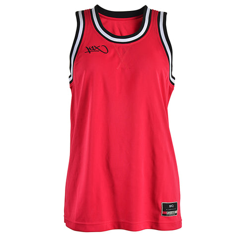 k1x hardwood ladies double x jersey - cherry red/black/white