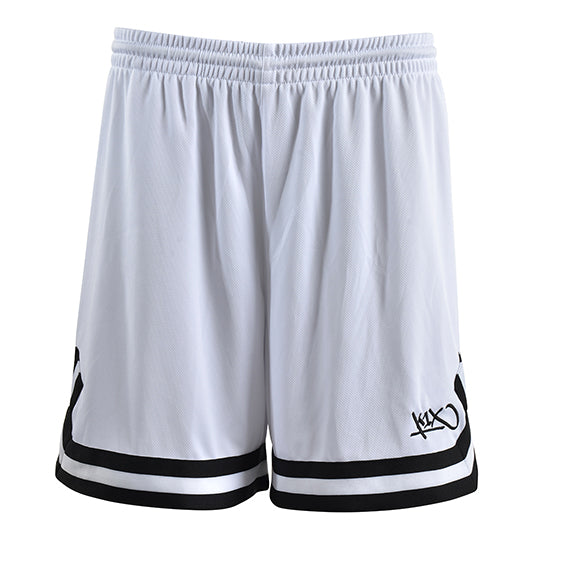 k1x hardwood ladies double x shorts - white/black