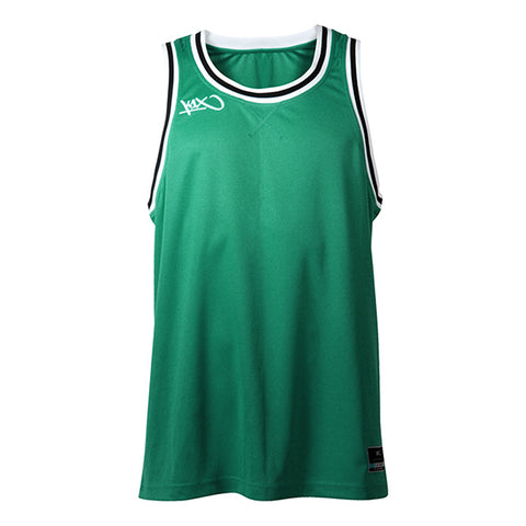 hardwood double x jersey - green/white
