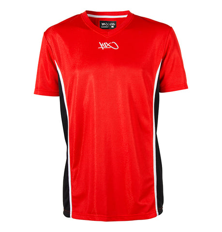 k1x hardwood league uniform shooting shirt mk2 - red/black/white