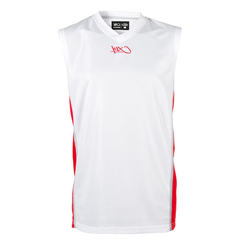 k1x hardwood league uniform jersey mk2 - white/red/silver