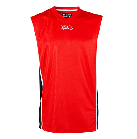 k1x hardwood league uniform jersey mk2 - red/black/white