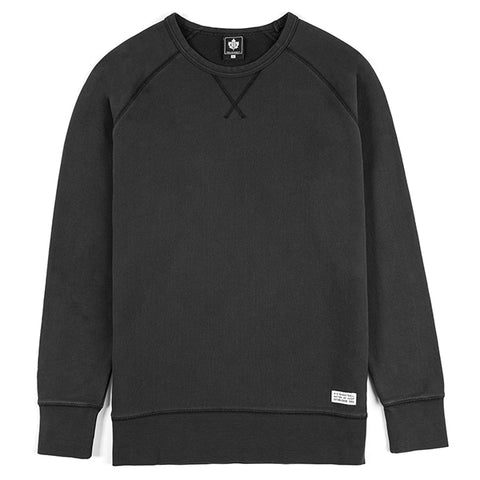 Washed Authentic Crewneck - black