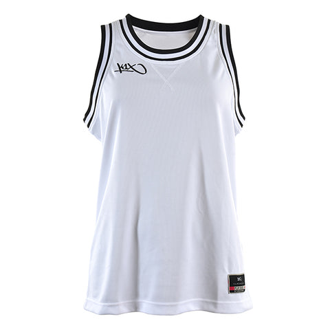 k1x hardwood ladies double x jersey - white/black