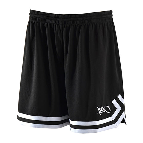 k1x hardwood ladies double x shorts - black/white