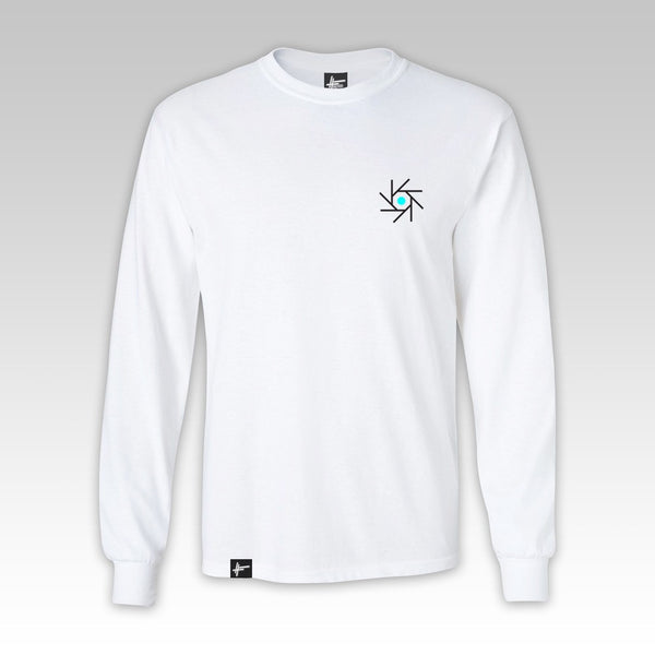 Edward Scissortongue + Lamplighter - 'CSD' White Long Sleeve T Shirt