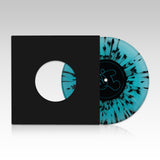 "Dirty Dike - 'Permanent Midnight' Aqua Marine/Black Splatter 7"" single (LIMITED EDITION VINYL)"