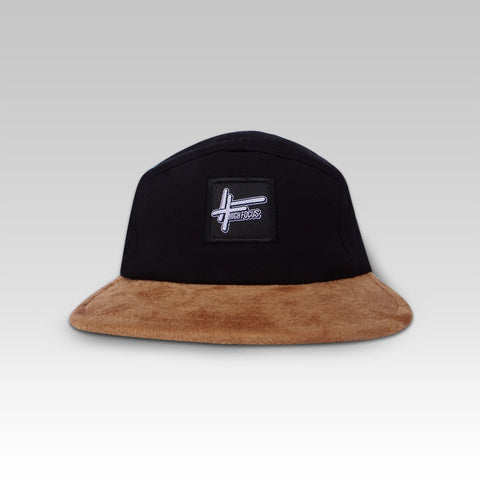 High Focus - Black/Suede 5 Panel Cap
