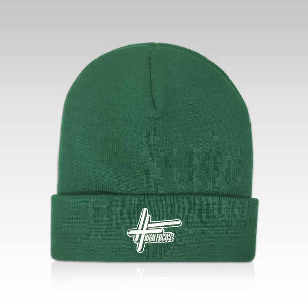 High Focus Deluxe Logo Beanie // Bottle Green