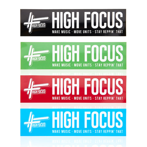 High Focus Bumper Sticker Pack