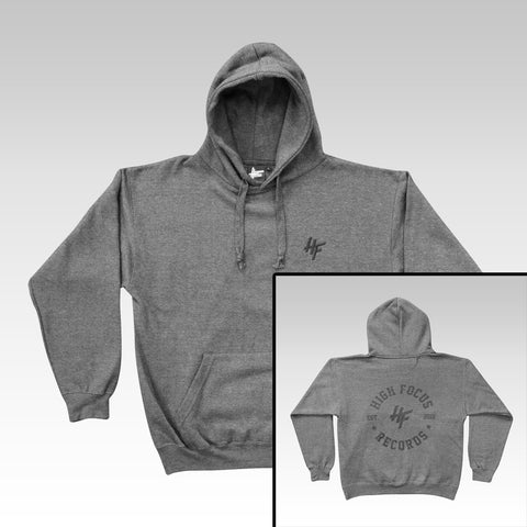 High Focus - Chunk Hoodie W/ Stamp back print // Charcoal
