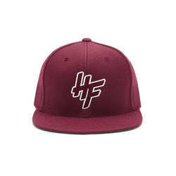 High Focus Chunk Snapback // Burgundy