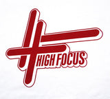 High Focus White // Red T-Shirt