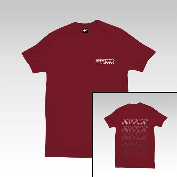High Focus - Type T Shirt // Maroon