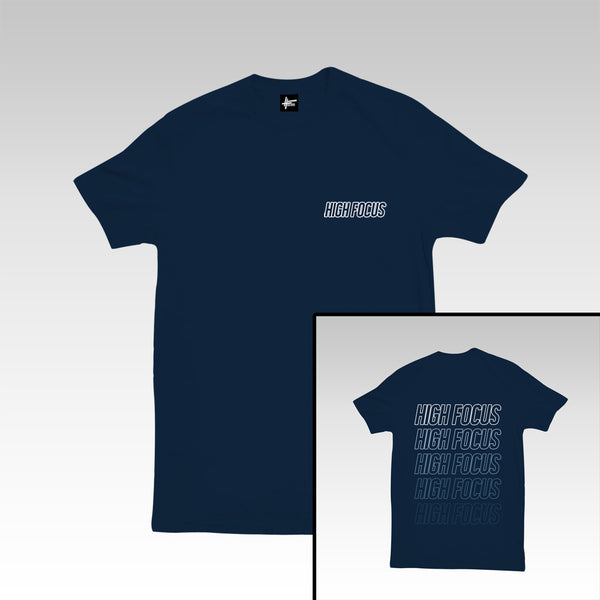 High Focus - Type T Shirt // Navy