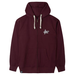 High Focus - Burgundy Zipper Hoodie