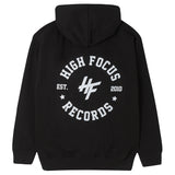 High Focus - Chunk Hoodie W/ Stamp back print // Black