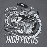 High Focus - Crate Diggers T Shirt // Slate Grey