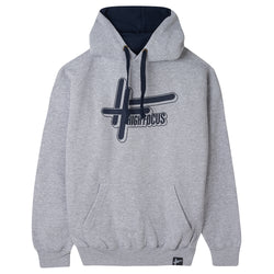 High Focus - Logo Hoodie // Grey / Navy