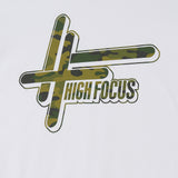 High Focus - Camo Logo T Shirt // White