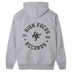 High Focus - Chunk Hoodie W/ Stamp back print // Light Grey