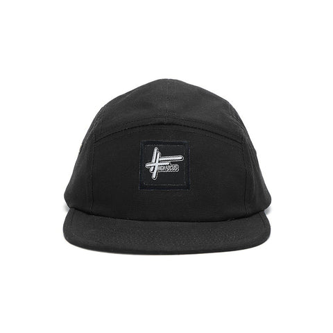 High Focus - Black 5 Panel Cap