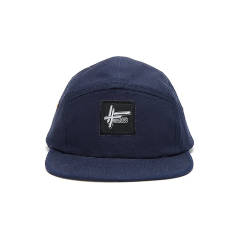 High Focus - French Navy 5 Panel Cap