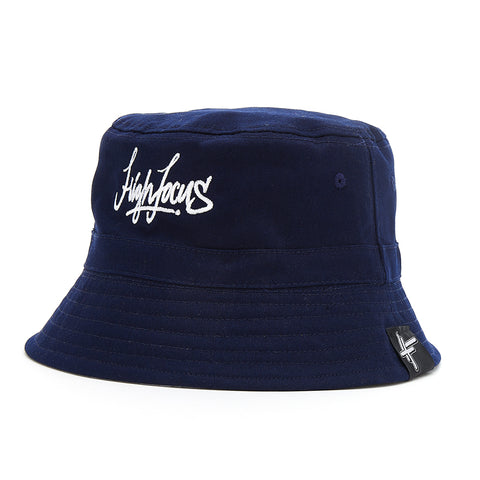 High Focus - Navy Script Bucket Hat