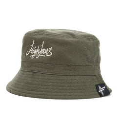 High Focus - Olive Script Bucket Hat