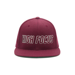 High Focus - Type Snapback // Maroon
