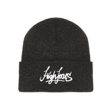 High Focus Deluxe Script Beanie // Charcoal