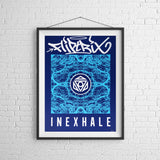 Fliptrix - Inexhale - Limited Edition Print (Blue / White)
