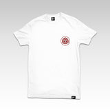Fliptrix - Inexhale T Shirt // White + Red