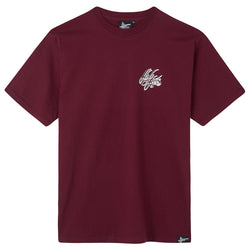 High Focus - Script T Shirt // Burgundy
