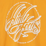 High Focus - Script T Shirt // Yellow