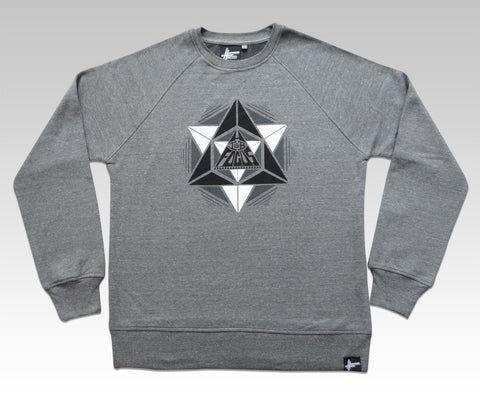 High Focus - Grey Geometric Jumper