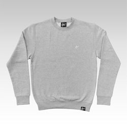 High Focus - Classic Logo Jumper // Light Oxford