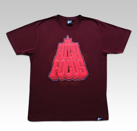 High Focus - Burgundy Blockbuster T-Shirt