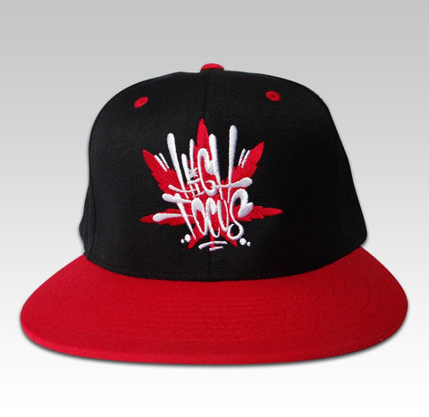 High Focus - Black/Red Bubble Tag Snapback