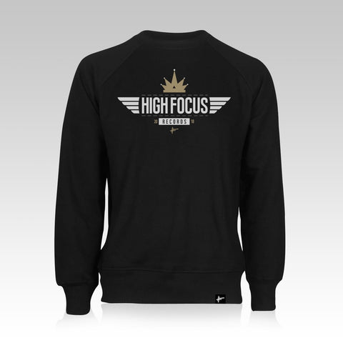 High Focus - Black/Gold Crown Jumper