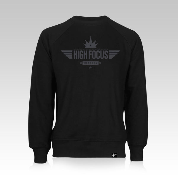 High Focus - Black/Grey Crown Jumper