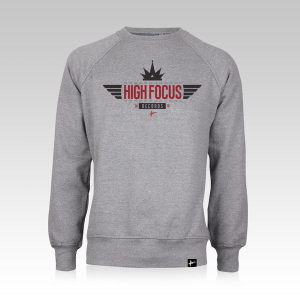 High Focus - Grey/Red Crown Jumper