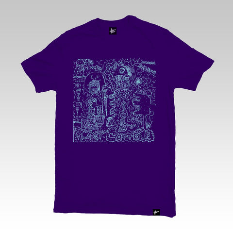 Onoe Caponoe - 'Voices From Planet Cattele' Purple T Shirt