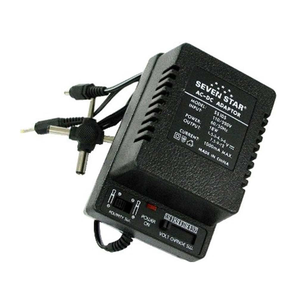 Seven Star SS105 1 5v-12v AC to DC Converter 1000mA Adapter with 3 Plugs