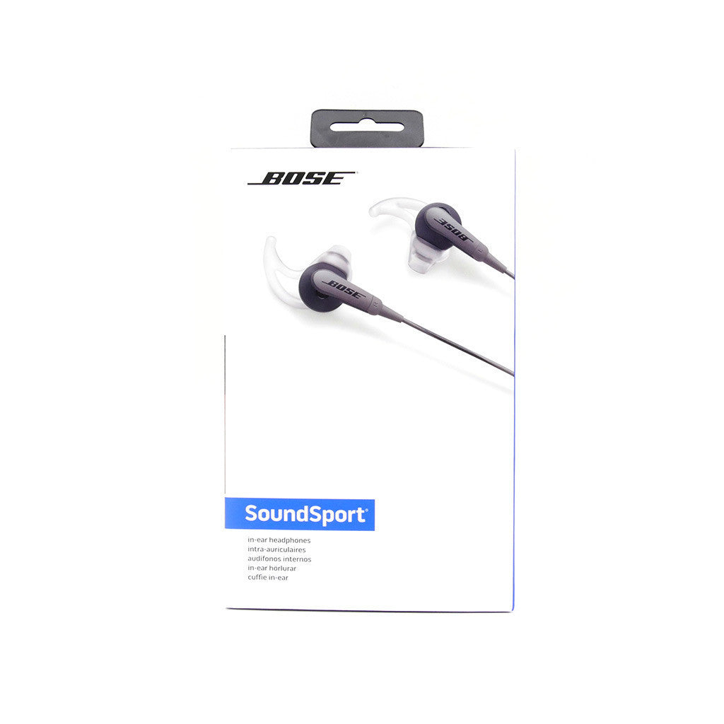 b7d94d45626 Bose SoundSport In-Ear Headphones Wired Earbuds - Apple devices (Black) -  Stage ...