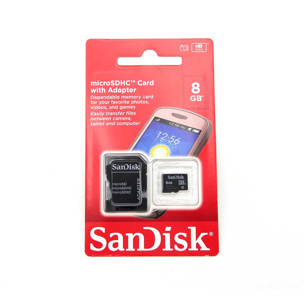 4ab21437113 SanDisk 8GB Mobile MicroSDHC Class 4 Flash Memory Card for Android Galaxy  Smartphone With Adapter for