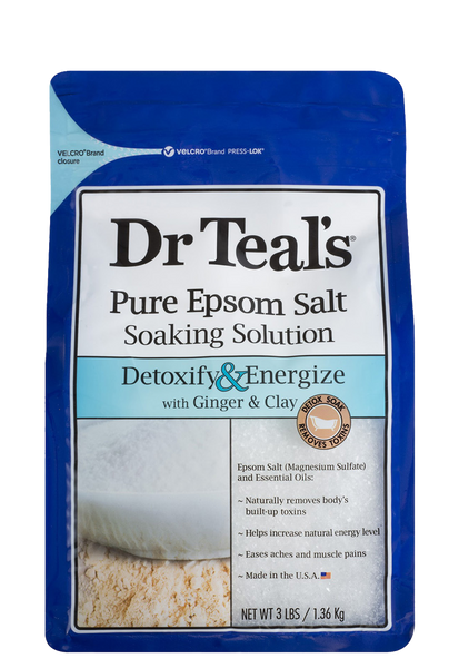 Epsom Salt Soak Solution -  Ginger & Clay
