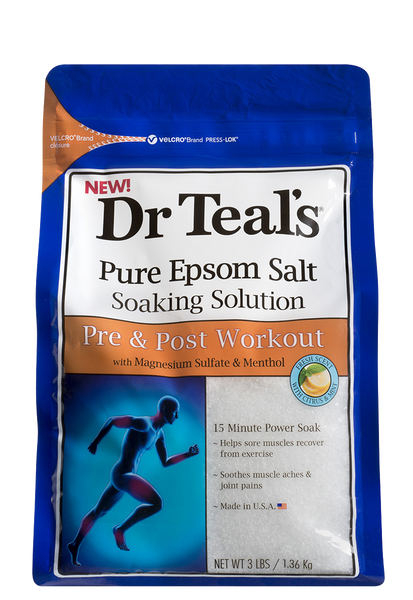 Epsom Salt Soaking Solution For Workout - Dr Teals