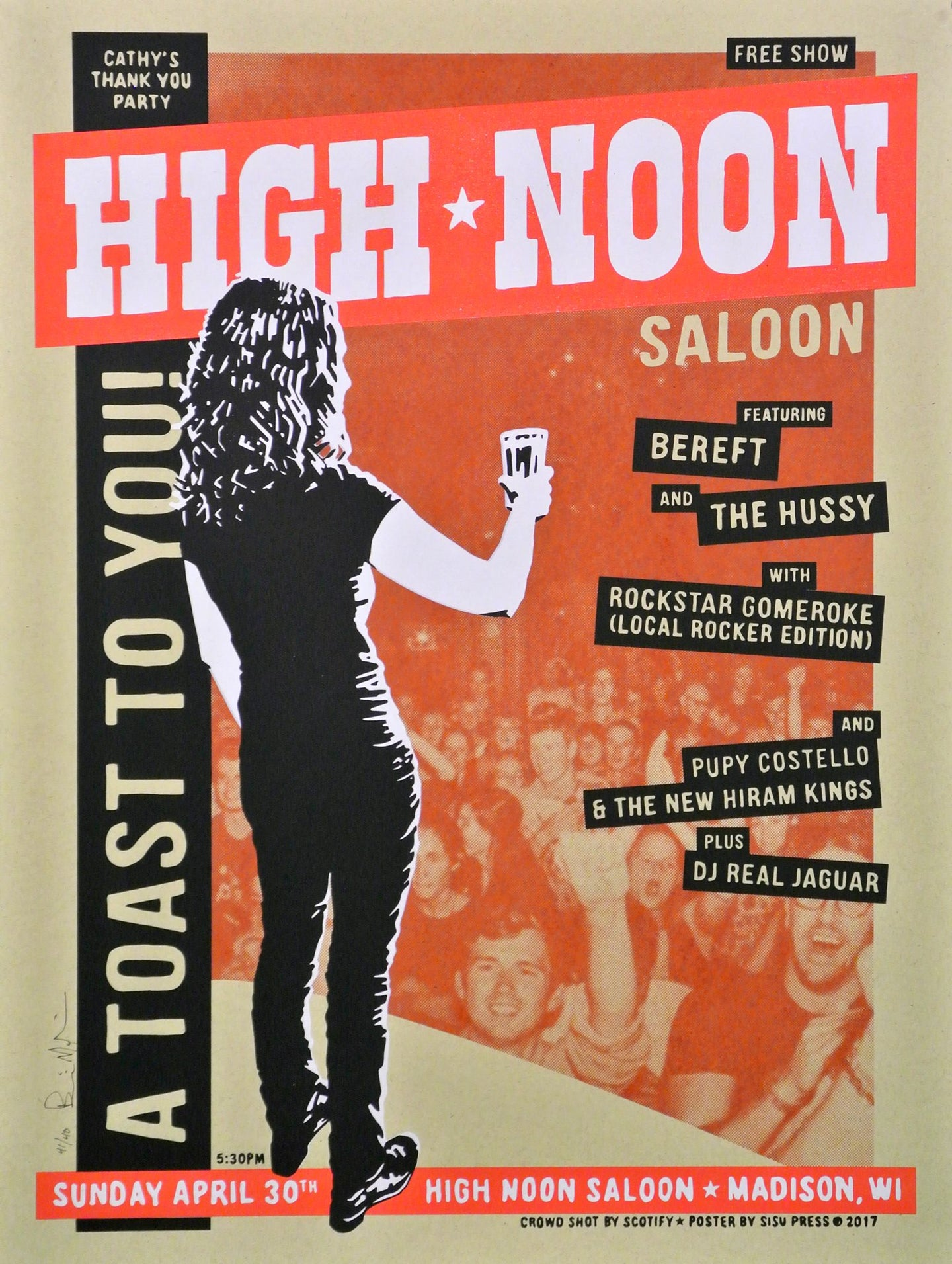 Farewell Cathy at High Noon Saloon 2017