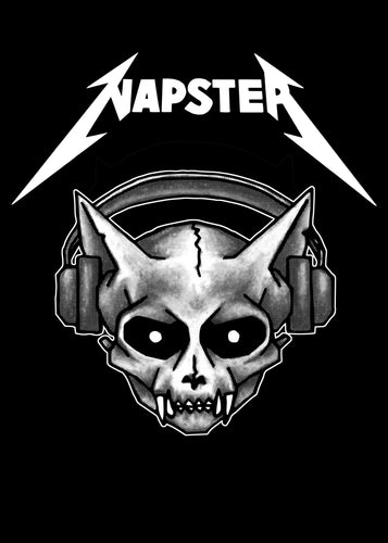 Heavy Metal Napster - Black T-shirt